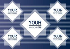 Vecteur de collage de photo gratuit
