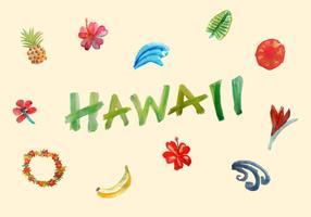 Éléments vectoriels hawaiens gratuits vecteur