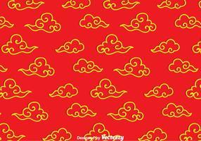 Modèle de nuage chinois vecteur