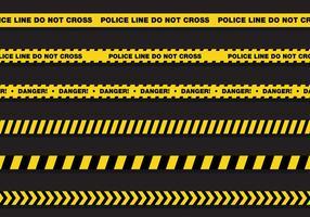 Ligne de police vectorielle vecteur