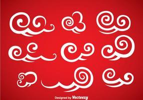 Ensemble vectoriel décoratif de nuages chinois