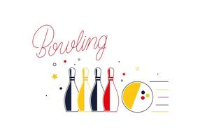 Vecteurs d'élément de piste de bowling gratuits vecteur