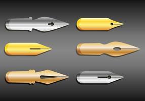 Vecteur stylo nib