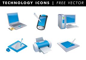 Icônes de technologie vecteur gratuit