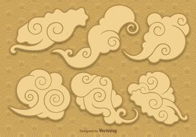 Nuages chinois vectoriels vecteur