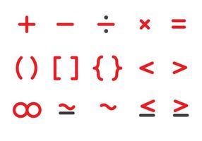 Vecteur d'icônes mathématiques gratuit