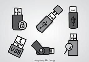 Ensembles d'icônes de lecteur de stylo vecteur