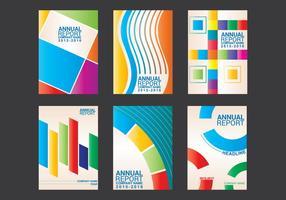 Vector de conception de rapport annuel
