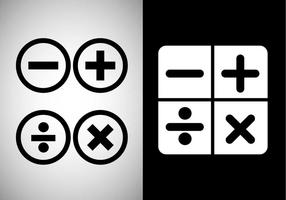 Vector de signes mathématiques gratuits