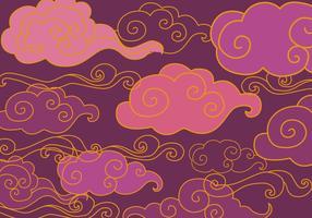 Vecteur ornement violet oriental gratuit