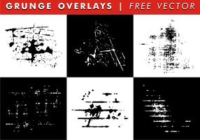Grunge overlays vecteur gratuit