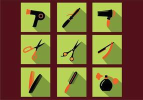 Vecteurs d'icônes d'outils de coiffeur