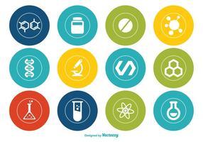 Ensemble d'icônes vectorielles en chimie