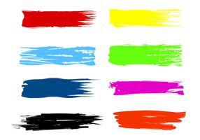 Vecteurs de brosse à rayures de peinture gratuits vecteur