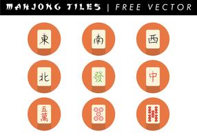Vecteur gratuit de mosaïque de mahjong