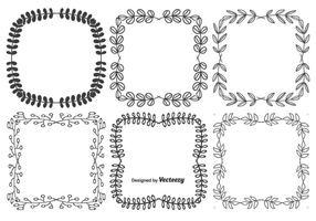 Ensemble de cadre de vecteur décoratif