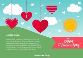 Modèle de carte du jour de la Saint-Valentin vecteur