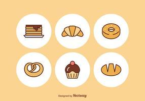 Icônes gratuites de boulangerie vecteur