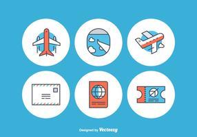 Icônes gratuites de vecteur d'avion