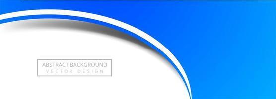 bannière de cercle bleu moderne