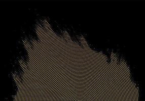 point d'or abstrait et fond noir vecteur