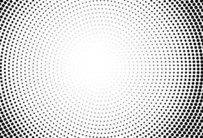 cercles abstraits fond de points noirs vecteur