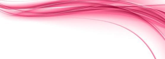 bannière de vague fluide rose moderne vecteur
