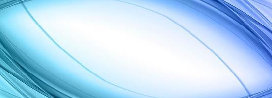 bannière de lignes courbes bleues abstraites vecteur