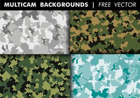 Vecteur multicam backgrounds free