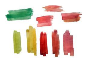 Vecteur coloré gratuit de traces de brosse