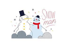 Vecteur snowman gratuit