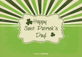 Illustration du rétro Saint Patrick's Day vecteur
