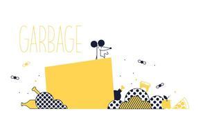 Vecteur d'ordures gratuit