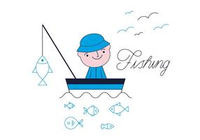 Vecteur de pêche gratuit