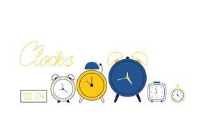 Vecteur horloges gratuites