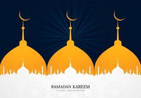 conception de ramadan kareem silhouette mosquée multiple