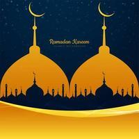 mosquée ramadan kareem avec forme de vague