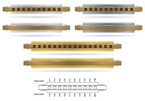 Harmonicas métalliques vecteur