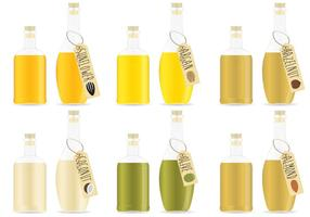 Vecteurs d'huiles organiques vecteur