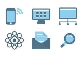 Vecteurs d'icônes Internet vecteur