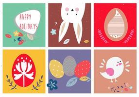 Jolies illustrations vectorielles de pâques