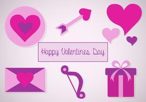 Vecteur libre d'icônes de valentines