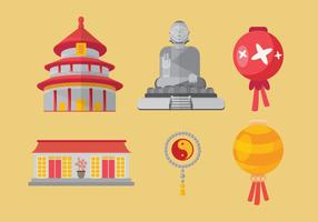 Chinese Town Vector