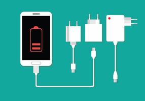 Vector de chargeur de téléphone