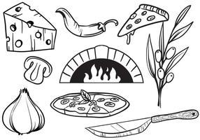 Vecteurs de pizza gratuits vecteur