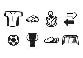 Vecteurs de dessin de kit de football vecteur