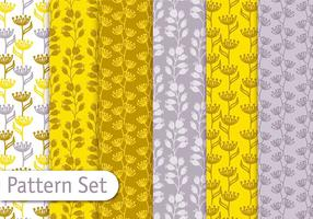 Ensemble de motifs moutarde jaune vecteur