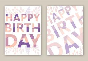 Vector de carte de joyeux anniversaire gratuit