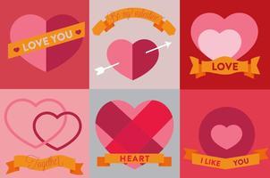 Icônes de coeur de vecteur gratuit