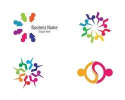 ensemble de logo communautaire coloré vecteur